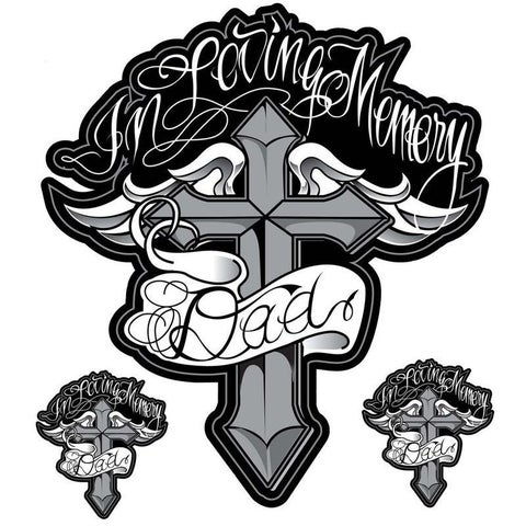 Pilot Automotive 6-inch x 8-inch In Loving Memory Dad Vehicle Car Decal Stickers