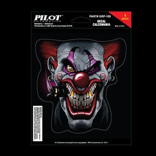 Pilot Automotive 6-inch x 8-inch Scary Clown Vehicle Car Decal Stickers
