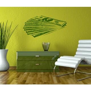 Money dollars Wall Art Sticker Decal Green