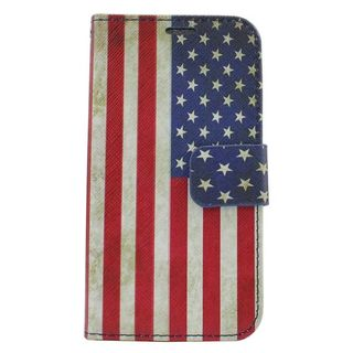 Insten United States National Flag Leather Case Cover with Stand/ Wallet Flap Pouch/ Photo Display For Samsung Galaxy S6 Edge
