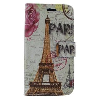 Insten Colorful Flowers Leather Case Cover with Stand/ Wallet Flap Pouch/ Photo Display For Samsung Galaxy S6 Edge