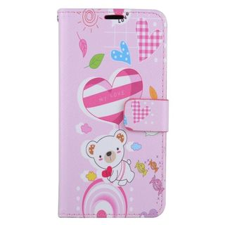 Insten Colorful Bear Leather Case Cover with Stand/ Wallet Flap Pouch/ Photo Display For Samsung Galaxy S6 Edge Plus