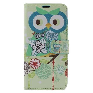 Insten Colorful Owl Leather Case Cover with Stand/ Wallet Flap Pouch/ Photo Display For Samsung Galaxy S6 Edge Plus