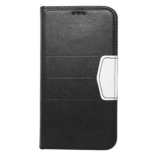 Insten Black/ Silver Leather Case Cover with Wallet Flap Pouch For Samsung Galaxy S5