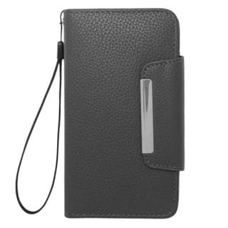 Insten Black Leather Case Cover Lanyard with Wallet Flap Pouch For Samsung Galaxy S5