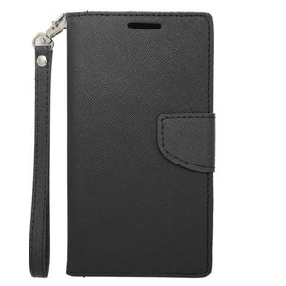 Insten Black Leather Case Cover Lanyard with Stand/ Wallet Flap Pouch For Samsung Galaxy Note 4
