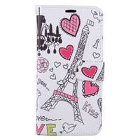 Insten Colorful Hearts Leather Case Cover with Stand/ Wallet Flap Pouch/ Photo Display For Samsung Galaxy S6 Edge Plus