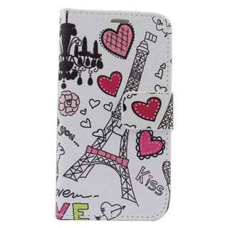 Insten Colorful Hearts Leather Case Cover with Stand/ Wallet Flap Pouch/ Photo Display For Samsung Galaxy S6 Edge