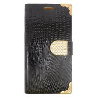 Insten Black/ Gold Leather Case Cover with Wallet Flap Pouch/ Diamond For Samsung Galaxy S6 Edge Plus