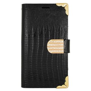 Insten Black/ Gold Leather Case Cover with Wallet Flap Pouch/ Diamond For Samsung Galaxy S6 Edge