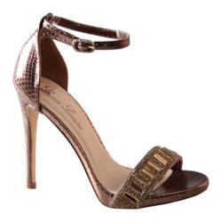 Women's Lauren Lorraine Ari Ankle Strap Sandal Bronze Fabric/Polyurethane