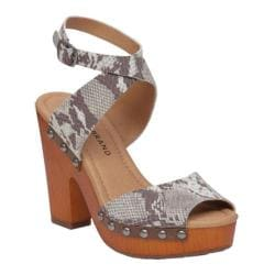 Women's Lucky Brand Nessah Ankle Strap Sandal Grey Leather