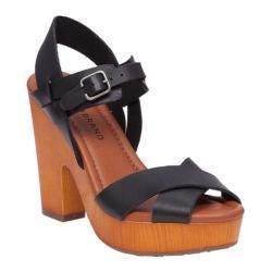 Women's Lucky Brand Nova Platform Sandal Black Leather