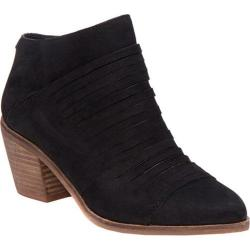Women's Lucky Brand Zavrina Bootie Black Nubuck Leather