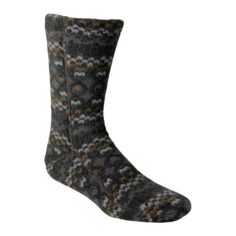 Acorn Versa Fit Socks Charcoal Cable Fleece