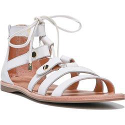 Women's Franco Sarto Baxter Sandal White Vachetta Leather