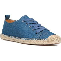Women's Franco Sarto Wilcox Lace Up Blue Jeans Fabric