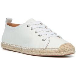 Women's Franco Sarto Wilcox Lace Up White Sheep Opera Leather
