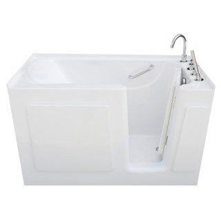 Signature Walk-in White 50 x 31-inch White Soaking Bath
