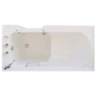 Signature Walk-in White 60 x 30-inch White Soaking Bath