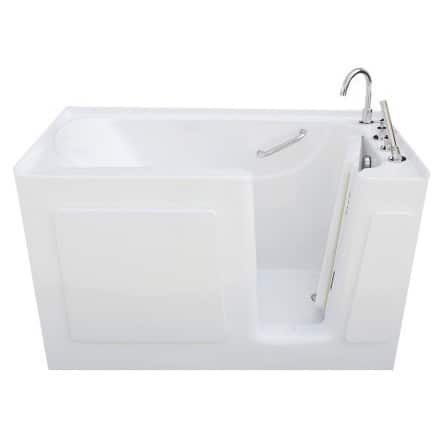 Signature Walk-in White 54 x 30-inch White Soaking Bath