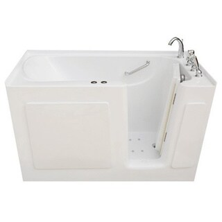 Signature Walk-in White 54 x 30-inch White Whirlpool and Air Combo Bath (2 options available)