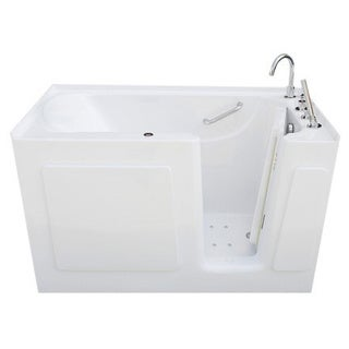 Signature Walk-in White 50 x 31-inch White Air Bath