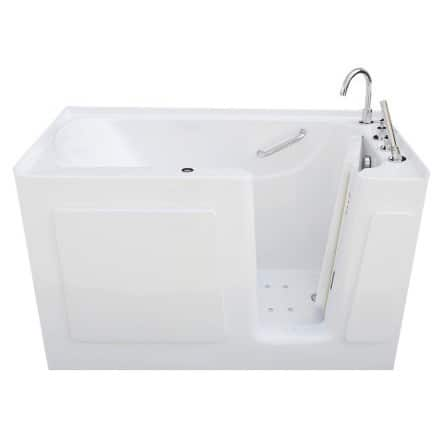 Signature Walk-in White 54 x 30-inch White Air Bath