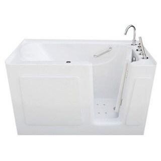 Signature Walk-in White 54 x 30-inch White Air Bath