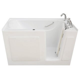 Signature Walk-in White 60 x 30-inch White Whirlpool Bath