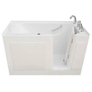 Signature Walk-in White 54 x 30-inch White Whirlpool Bath (2 options available)