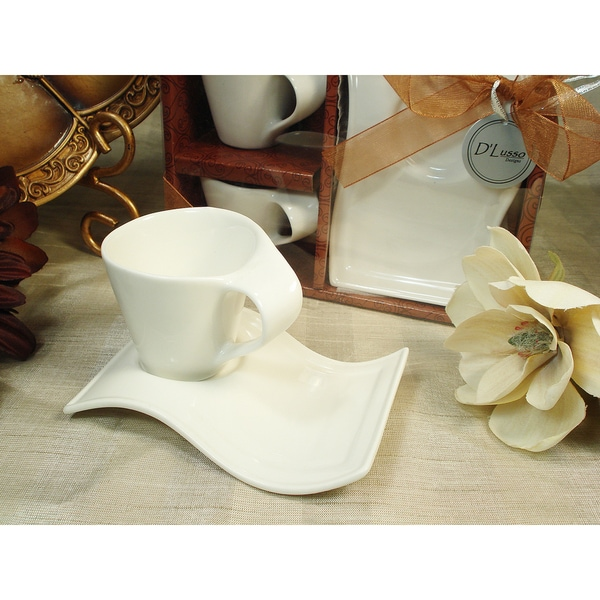 D'lusso Designs White Porcelain 4 by Divine Designs