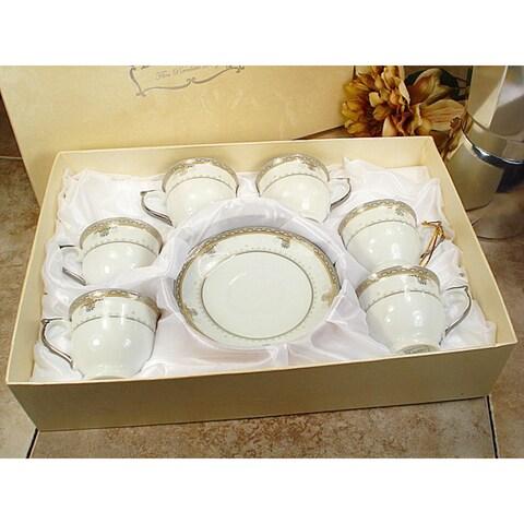 D'Lusso Designs White Porcelain 12-piece Espresso Set