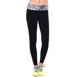 Nikibiki Activewear Women's Black Nylon/Spandex Python Sublimation Yoga Pants