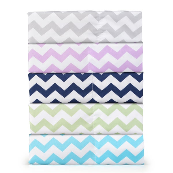 Journee Home 'Bright Accents' Chevron Microfiber 4-piece Sheet Set