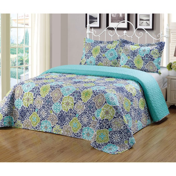 Journee Home 'Lleida' 3-piece Reversible Bedspread Set