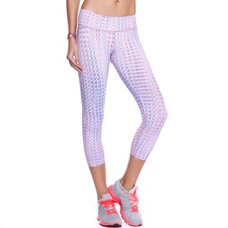 Nikibiki Women's Activewear Pink and Purple Nylon and Spandex Mosaic Sublimation Pants