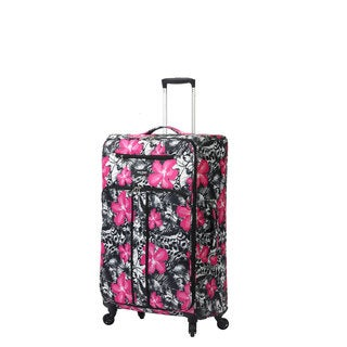 Mia Toro Italy Ibisco 19-inch Expandable Fashion Carry-on Spinner Suitcase