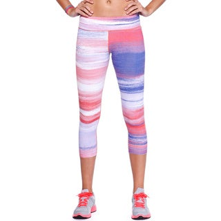 Nikibiki Activewear Women's Multi-color Nylon, Spandex Sublimation Capri Pants
