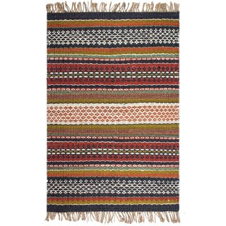 Fab Habitat Yosemite Hand Woven Natural Jute Multicolor Area Rug (India)