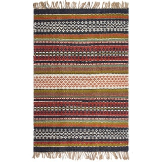 Fab Habitat Yosemite Hand Woven Natural Jute Multicolor Area Rug