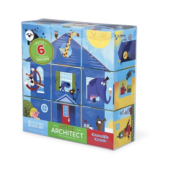 Crocodile Creek Little Architect Multicolor 3.5-inch Boy Builder Jumbo Block Set Mix and Match Stacking Set