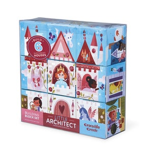 Crocodile Creek Little Architect Multicolor 3.5-inch Girls' Builder Jumbo Block Set Mix and Match Stacking Set