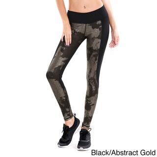 Nikibiki Activewear Women's Abstract Metallic Contrast Pants