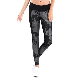 Nikibiki Activewear Women's Abstract Metallic Contrast Pants