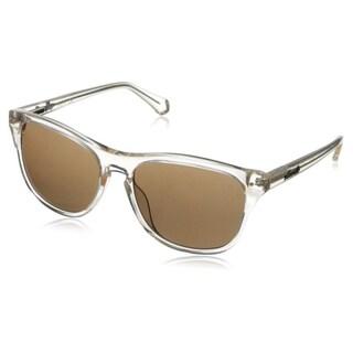 Kenneth Cole New York Women's KC7134W5527E Clear Plastic Wayfarer Sunglasses
