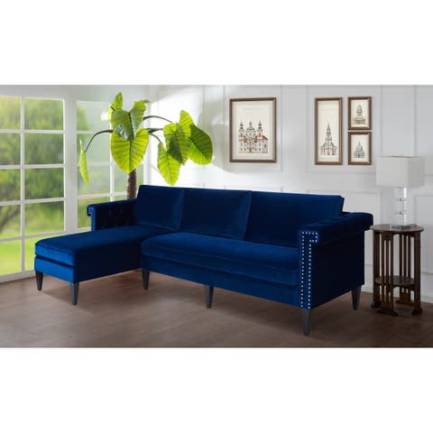 "Jennifer Taylor Nathaniel Reversible Chaise Sectional - 116""LX66""WX36.5""H"