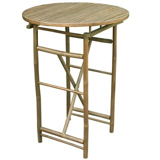 Zew Hand Crafted Round Natural Bar Height Table