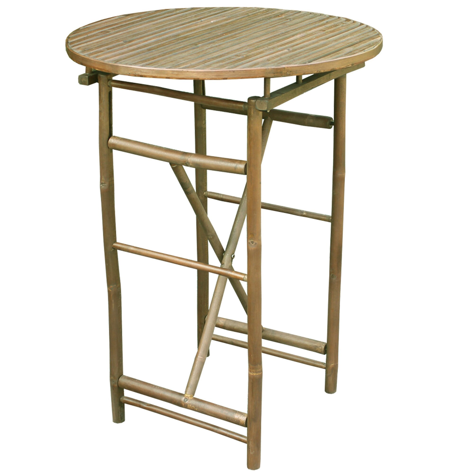 Round Natural Bar Height Table