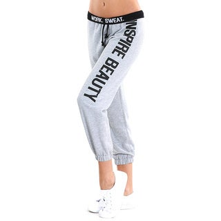 Nikibiki Activewear Women's Grey Cotton-blended Sweat Pants